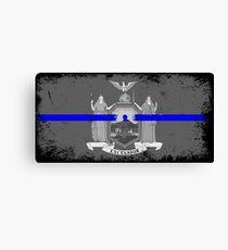 Blue Line New York State Flag Canvas Print