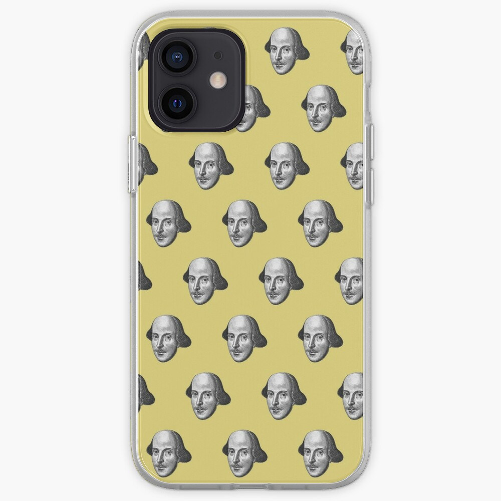 Shakespeare Etching Pattern (Yellow) iPhone Case & Cover