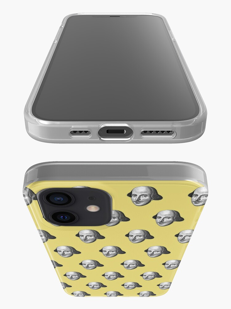 Alternate view of Shakespeare Etching Pattern (Yellow) iPhone Case & Cover