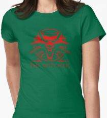 The Witcher Red Womens Fitted T-Shirt