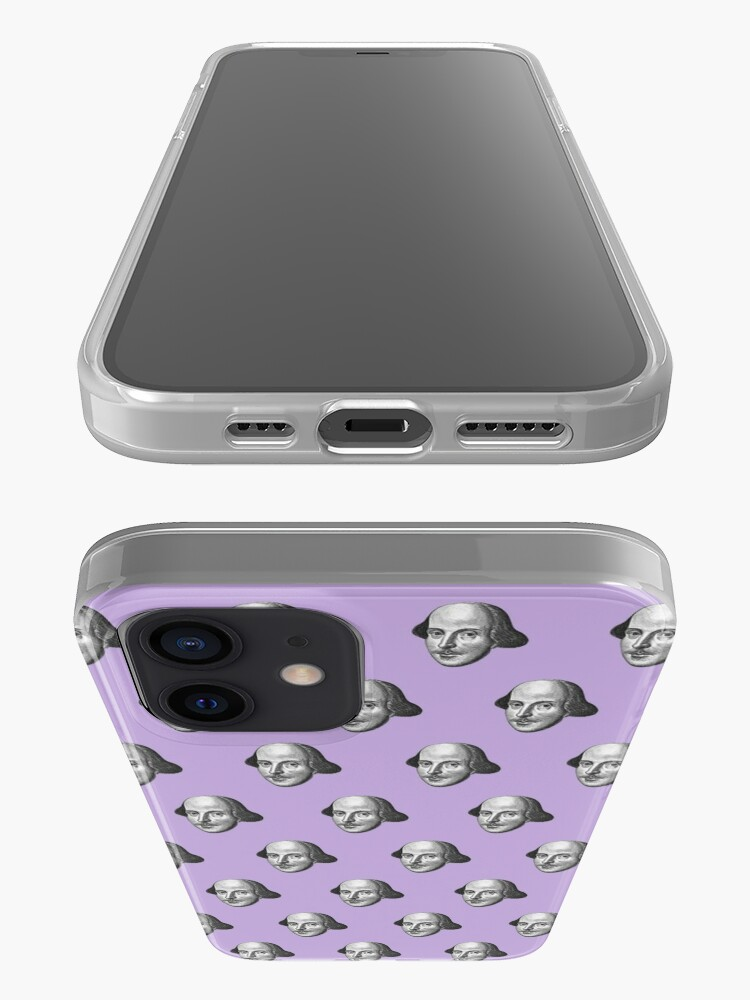 Alternate view of Shakespeare Etching Pattern (Purple) iPhone Case & Cover