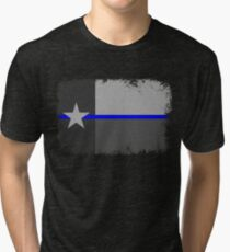 Blue Line Texas State Flag Tri-blend T-Shirt
