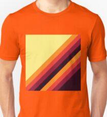 Sunset Palette Stripe Pattern- diagonal T-Shirt