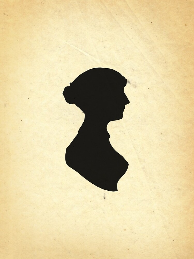 Jane Austen Silhouette (Big) by daltonrowe