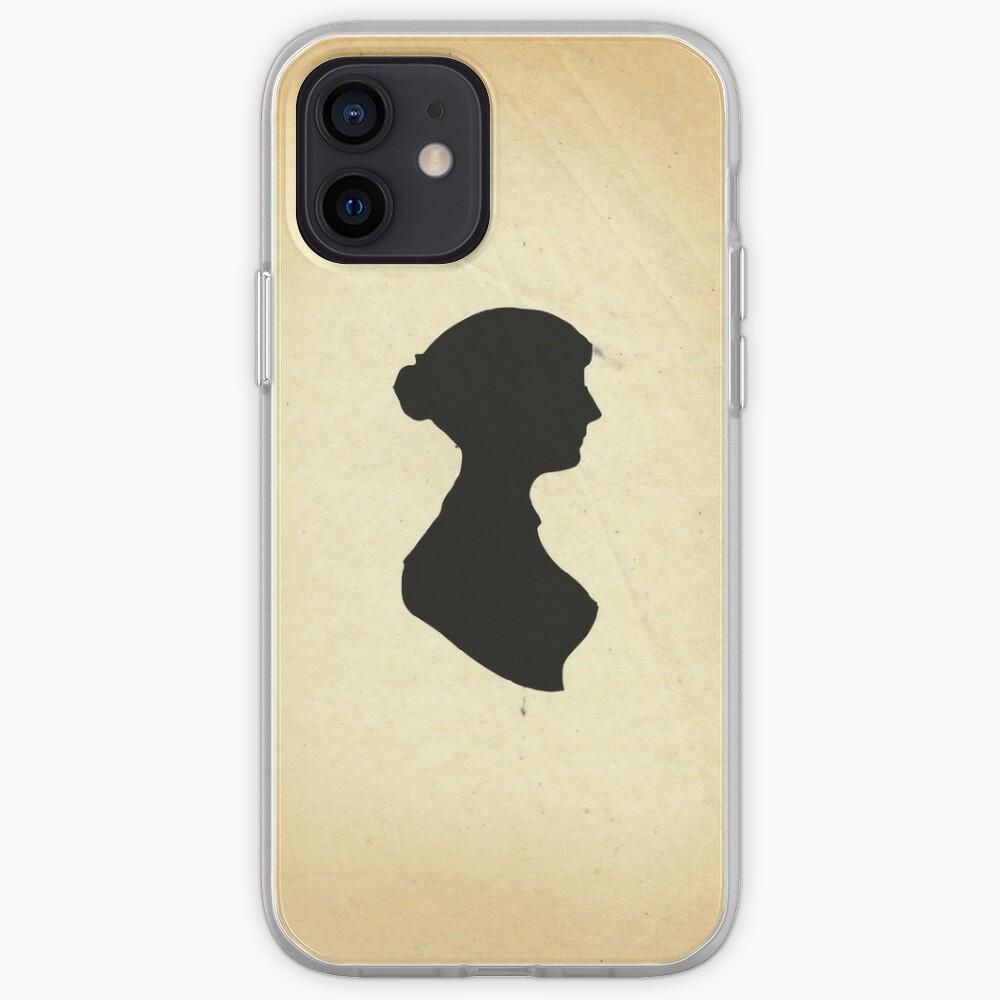 Jane Austen Silhouette (Big) iPhone Case & Cover