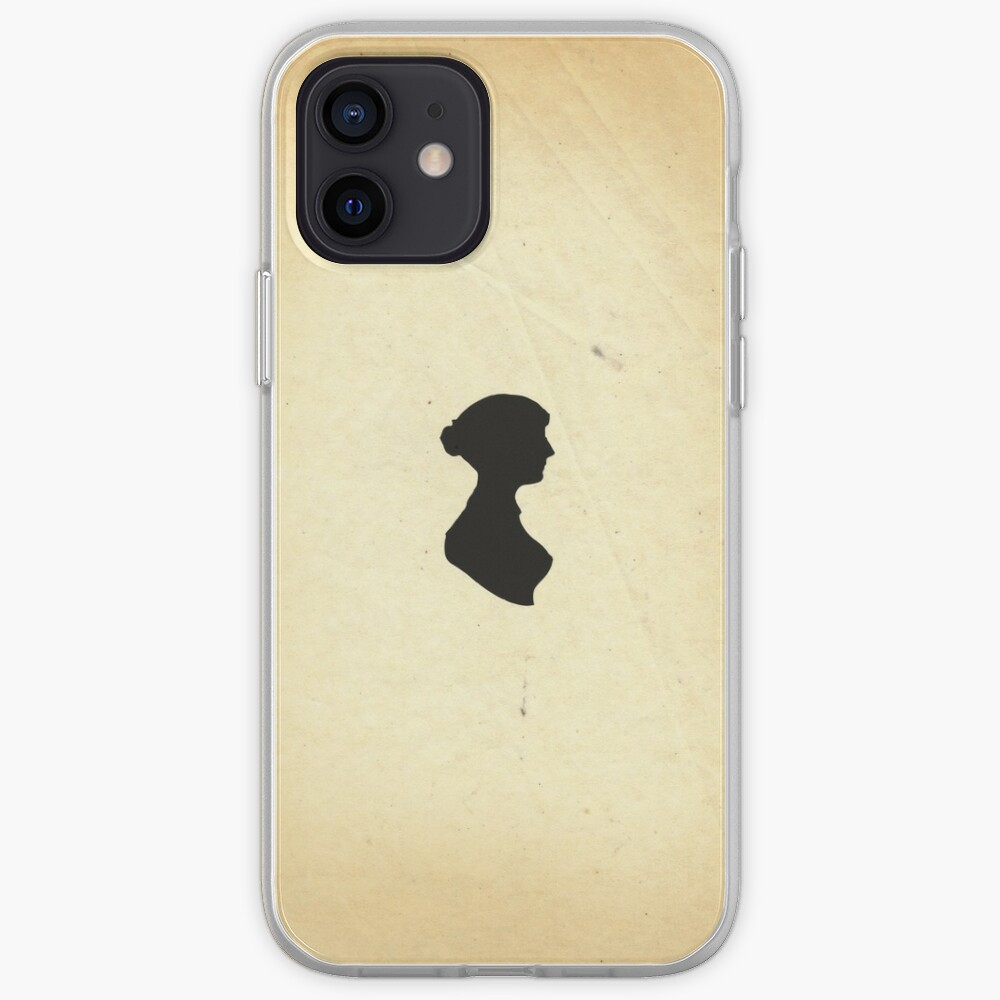 Jane Austen Silhouette (Small) iPhone Case & Cover