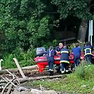 Firemen in Rescue Training at the River Chester by AnnDixon