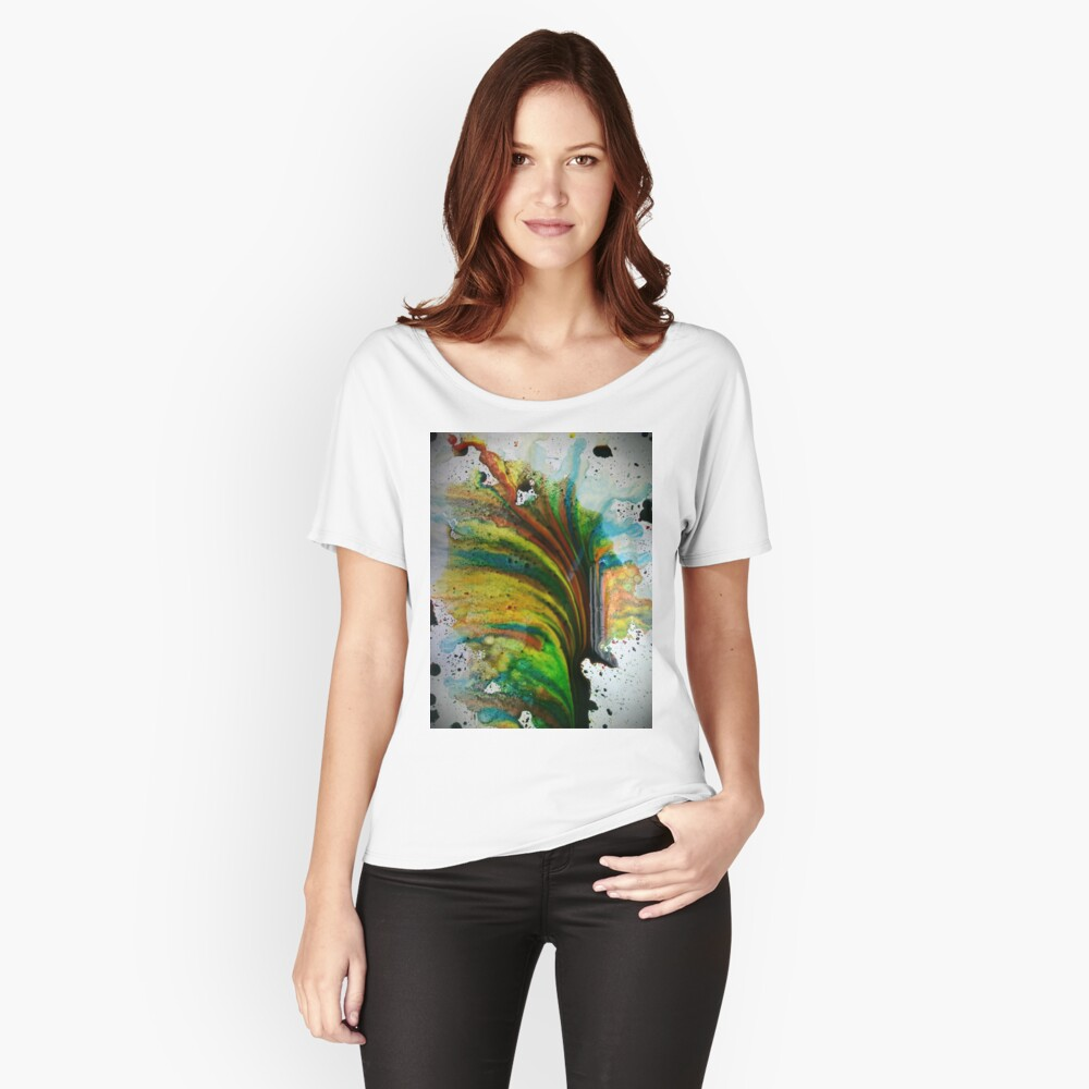 Ink Spill Women's Relaxed Fit T-Shirt Front