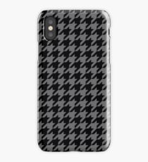 Dogtooth / Houndstooth grey iPhone Case