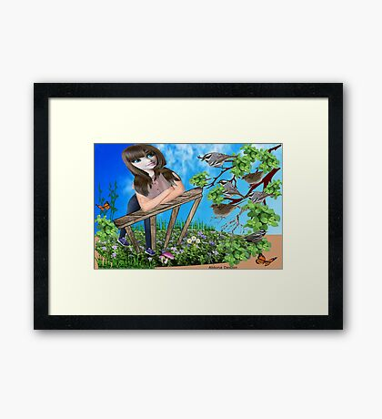 Message from the birds ( 757 Views) Framed Print