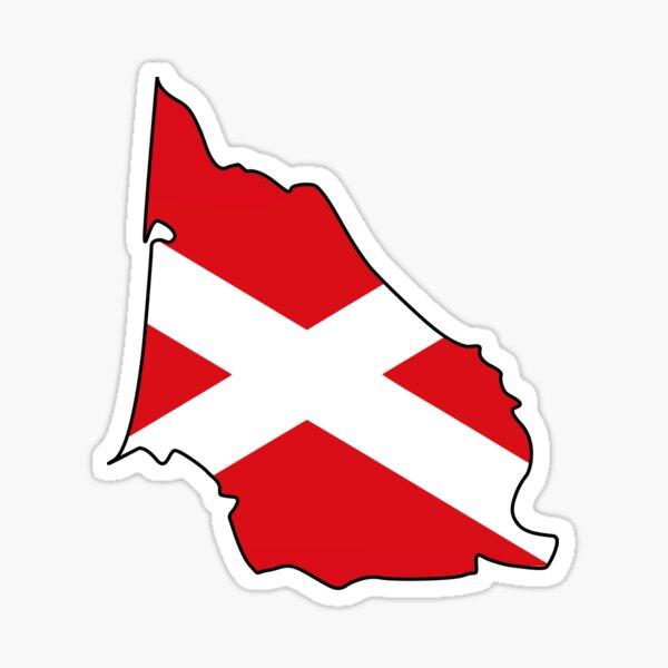 Gascogne carte-drapeau Sticker