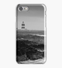 Hook Head Lighthouse on a stormy day, County Wexford, Ireland iPhone Case/Skin