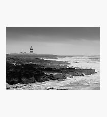 Hook Head Lighthouse on a stormy day, County Wexford, Ireland Photographic Print