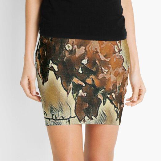 Rose Tree Art Mini Skirt