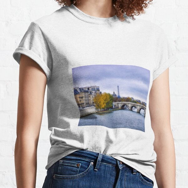 Pont Neuf View of Eiffel Tower  Classic T-Shirt