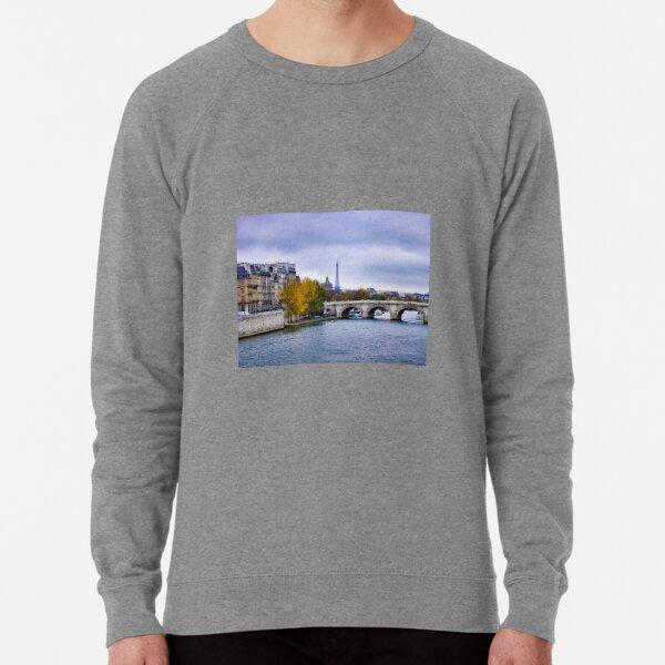 Pont Neuf View of Eiffel Tower  Lightweight Sweatshirt