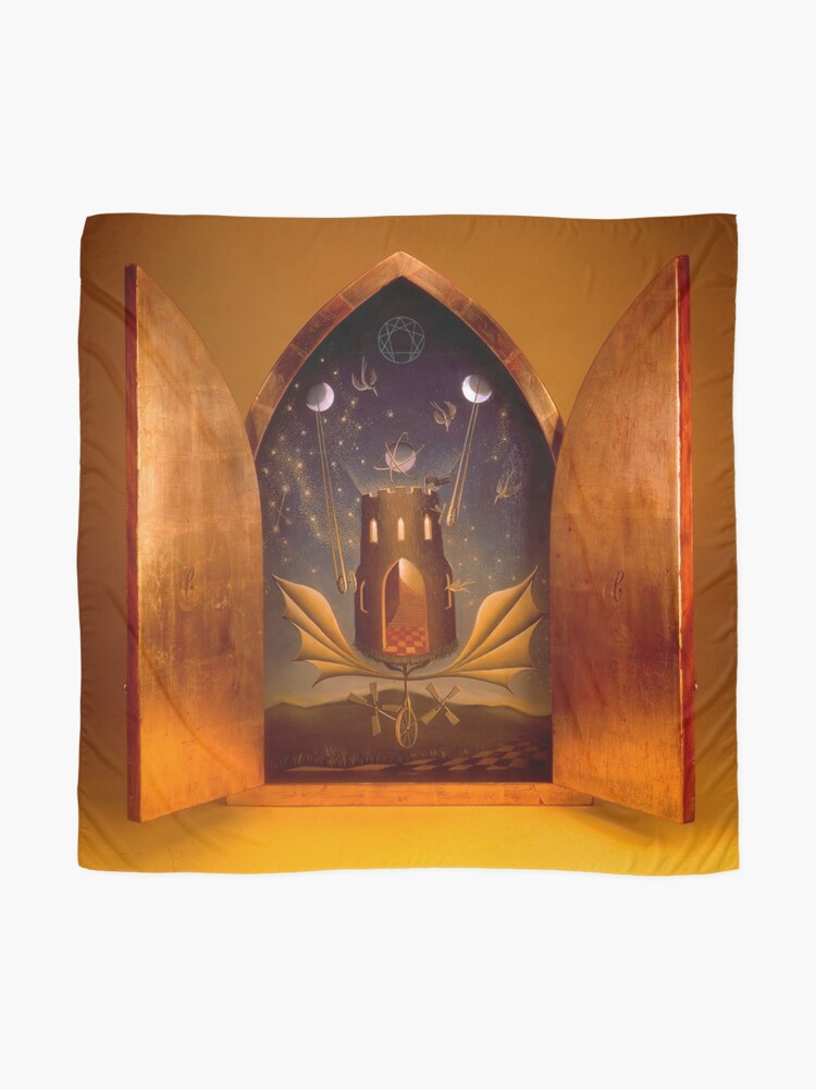 Alternate view of Icon (Window To The Magic World), by Remedios Varo Scarf