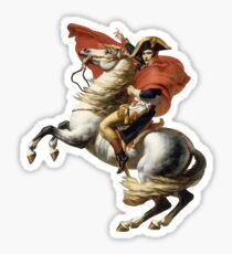 Pegatina Napoleón cruzando los Alpes