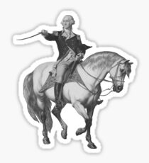 Washington Receiving A Salute At Trenton Sticker