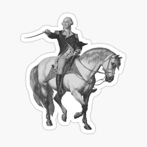 Washington Receiving A Salute At Trenton Sticker