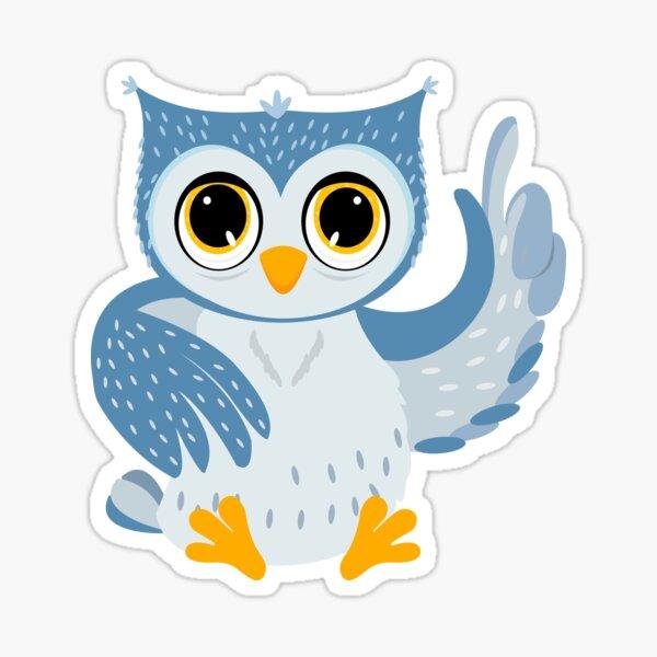 baby owl illustration Sticker