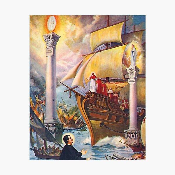 Vision of Sant John Bosco Photographic Print