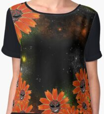 Space Flower Women's Chiffon Top