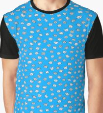 Blue catface cat illustration Graphic T-Shirt