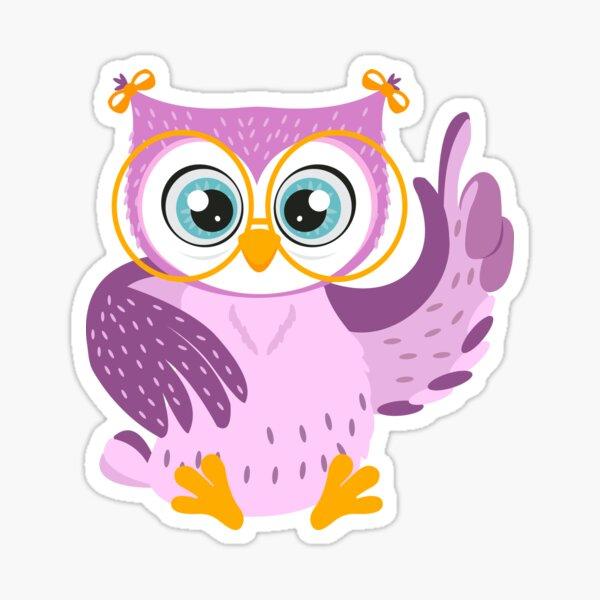 owl owls bright cute vector illustration  fashionable beautiful  Sticker