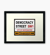 Diverted Democracy Framed Print