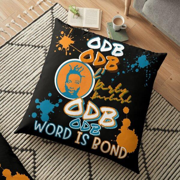 ODB Word is Bond    Rap Legend Ol Dirty Bastard,Classic Golden Age of Hip Hop Music Design Floor Pillow