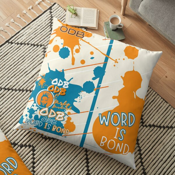 ODB Word is Bond Paint Pattern    Rap Legend Ol Dirty Bastard,Classic Golden Age of Hip Hop Music Design Floor Pillow