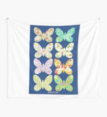 UNUSUAL EXOTIC BUTTERFLIES Wall Tapestry