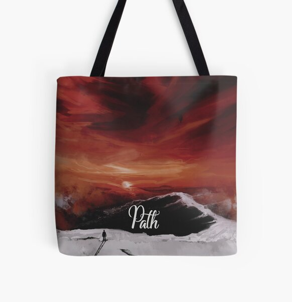 Path All Over Print Tote Bag
