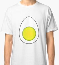 A hard boiled egg cut in half Classic T-Shirt