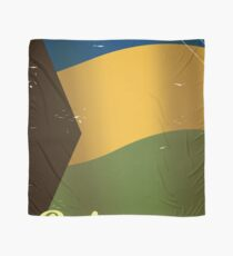 Bahamas national flag vintage travel poster  Scarf