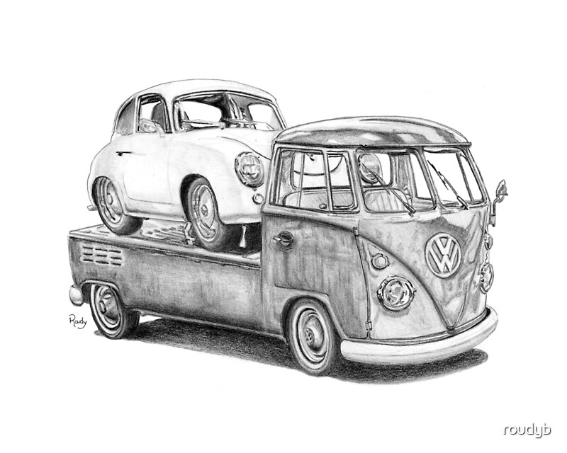 bus drawing volkswagen bus by paul kuras. but. how to draw a hippie ...