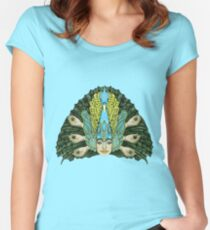 The Hierophant (Peacock warrior) Women's Fitted Scoop T-Shirt