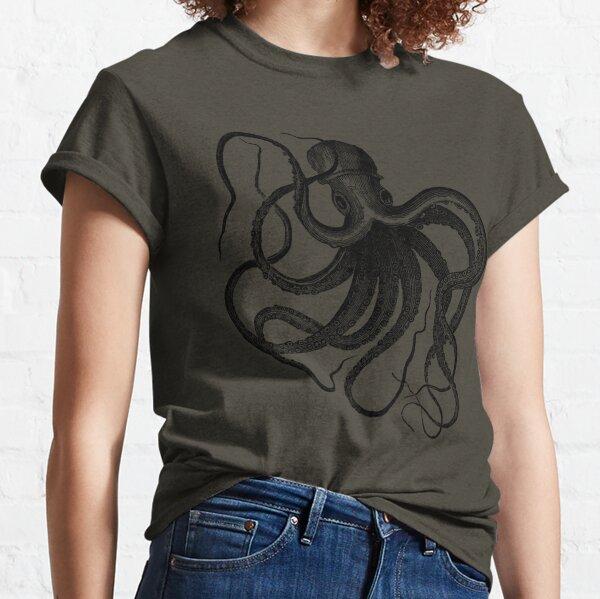 Vintage Octopus Illustration Classic T-Shirt