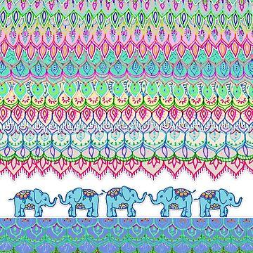 Tiny Circus Elephants von micklyn