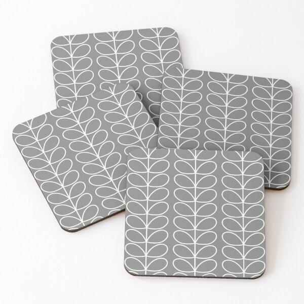 orla kiely linear stem grey, white  Coasters (Set of 4)