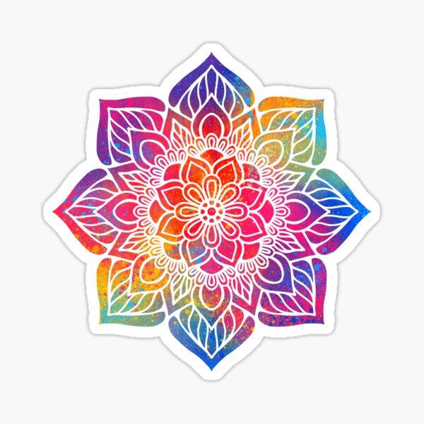 Rainbow Petal Mandala Sticker