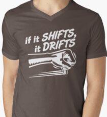 if it SHIFTS, it DRIFTS (1) T-Shirt mit V-Ausschnitt für Männer