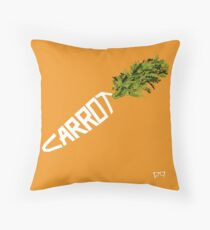 CARROT - - - - - - - EAT YOUR VEGETABLES Throw Pillow