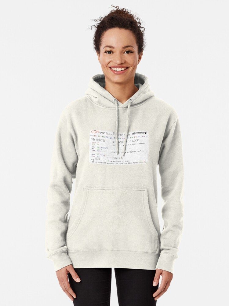 Alternate view of a mini COM / PE stub Pullover Hoodie