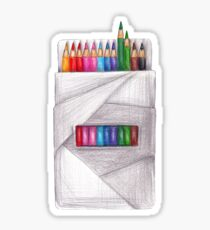 box of crayons. color pencil Sticker