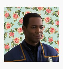 Floral Travis Mayweather Photographic Print