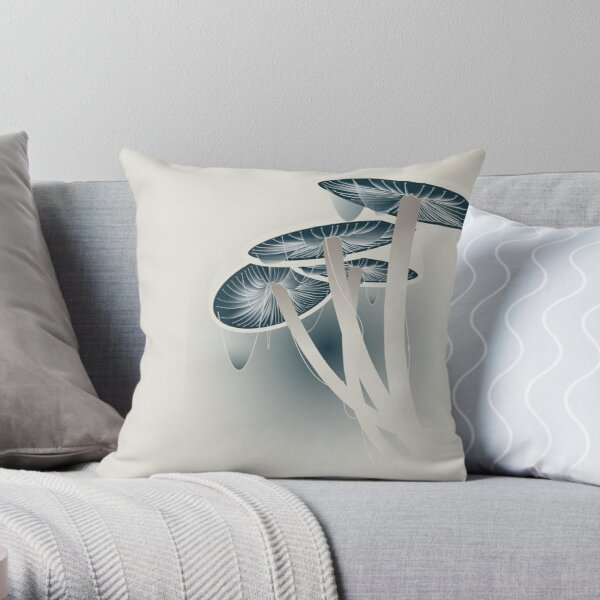 Shrooms Throw Pillow