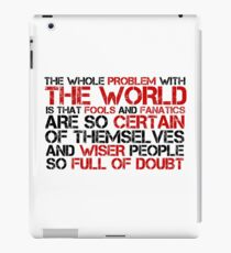 Political Quote Bertrand Russel Cool Philosophy iPad Case/Skin