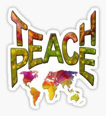 Teach Peace Globally Sticker